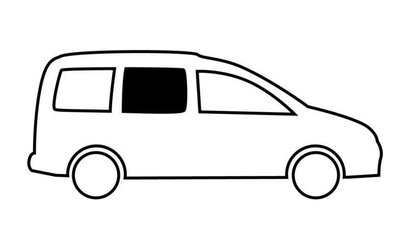 Schiebefenster für VW Caddy Maxi, BJ. 2009-2020