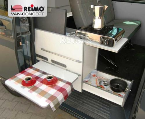 """VW T6, VW T5 kitchen module """"Cooky"""" including mattress & cover"""