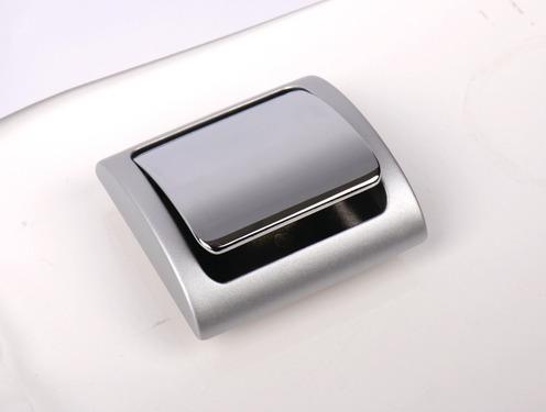 Push-Lock Möbelschloß, Rahmen silberfarben, Knopf in chrom