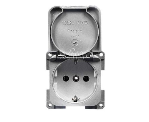 Socket outlet 230V - silver