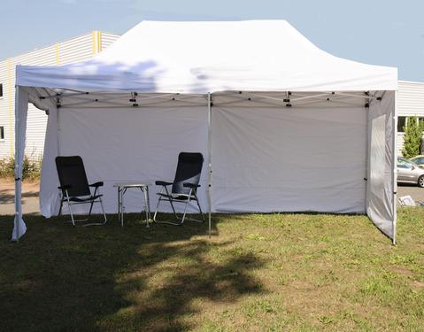 Premium foldet pavillon - Elegant med robuste aluminiumspoler