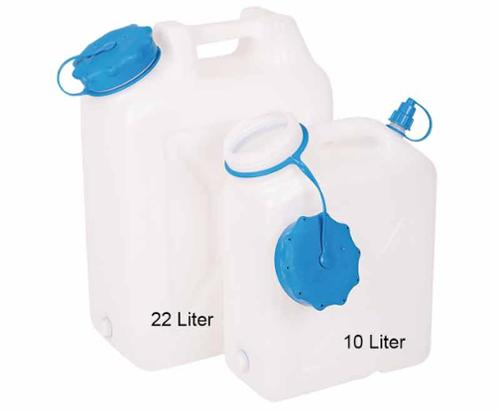 Water canister wide neck 22 litre, rounded shape, UV protection