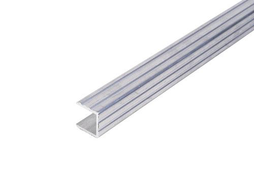 U-profil lavet af aluminium 15mm stang 2m