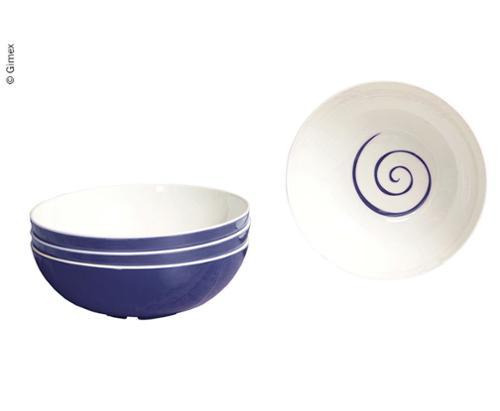 Cereal Bowls TWIST, 4 pcs., Content: 600ml, blue