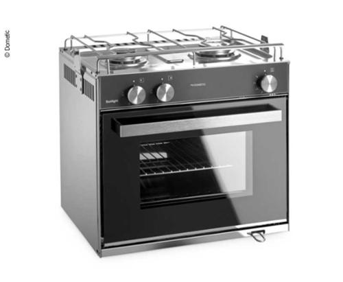 Dometic Sunlight gas stove with grill and 2-burner hob