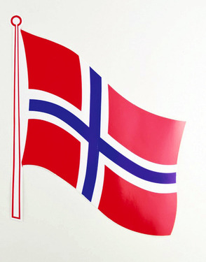 Flag sticker Norway pack of 2, 145 x 125 mm