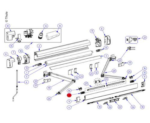 LH Conn Support Arm 5200