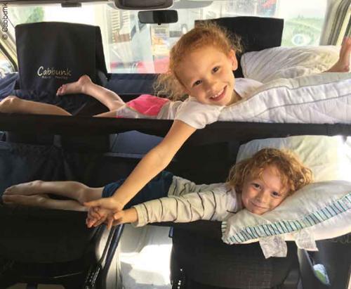 CABBUNK Zusatzbett für Fahrerhaus, VW T6, belastbar bis 70kg