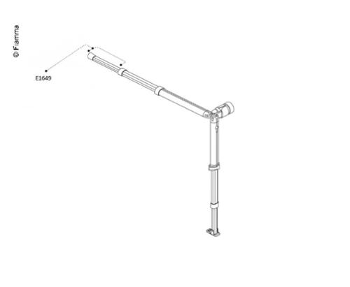 Clamping arm End rod