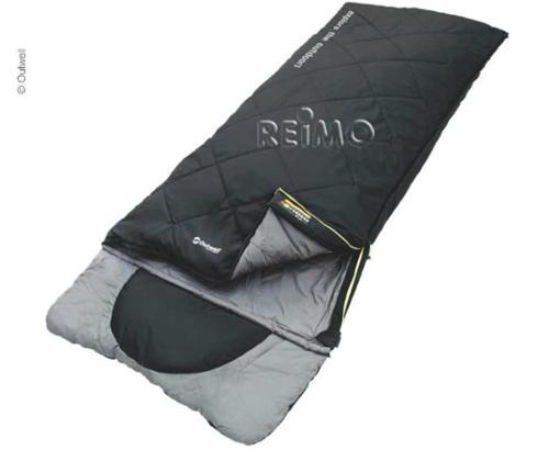 Schlafsack Contour schwarz, 225x90cm, integriertes Kissen