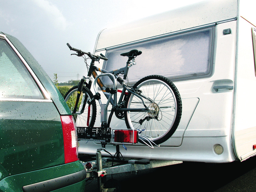 Disseladapter Caravan, montage voor fietsendrager