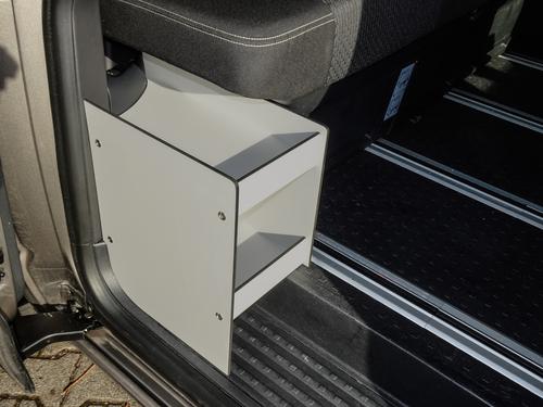 Sliding door shelf for VW Kombi KR, with Reimo bench V-3000