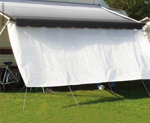 Sun protection front for roof and wall awnings