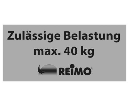 """Klistermærke """"Tilladt belastning maks. 40 kg"""""""