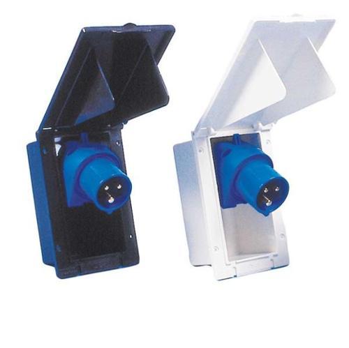 CEE input socket outlet, rectangular