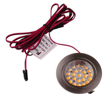 12V LED Spot, gebürstetes Edelstahl, 1,7 Watt