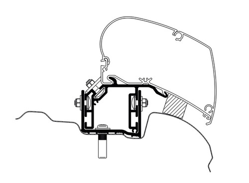 Adapter for Omnistor Awning - VW Crafter from 2017 UK-Version