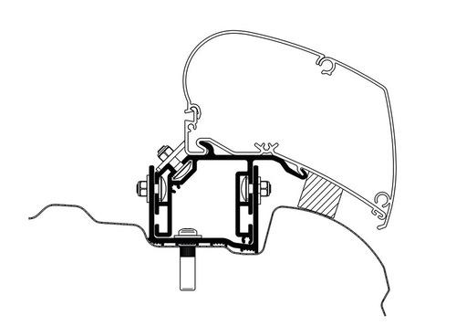Adapter til Omnistor Markise - VW Crafter fra 2017 UK version