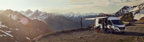 Thule Omnistor Dachmarkise 6300, Mystic Grau, Gehäusefarbe eloxiert, 325cm