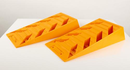 Kliny kompensacyjne żółte, zestaw 2, wysokość max. 90mm