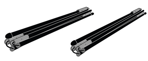 Set di fissaggio per il tensionamento delle pareti laterali delle tende Quickfit