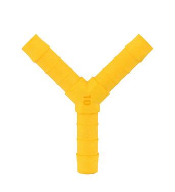 Złącze Y do węża 10 mm 2 szt. Biało żółty