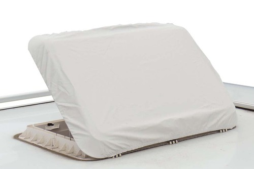 Insulating protective covers for roof hoods