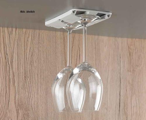 Stielglashalter 2er Set, beigegrau für 2 Gläser bis Ø 86 mm