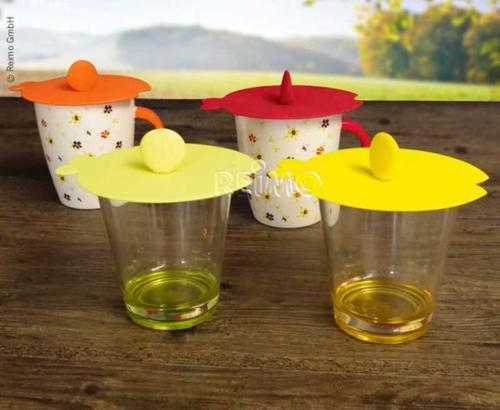 Silikon Deckel Für Glas Oder Tasse Fisch Design 4 Tlg Inkl Teebeutelhalter Silikon Küchenhelfer Melamin Geschirr Campingküche Camping Shop Reimo Shop