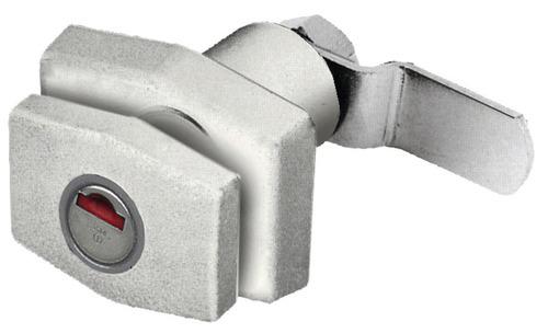 Klappenschloss rechteckig weiß ohne Zylinder + Schlüssel