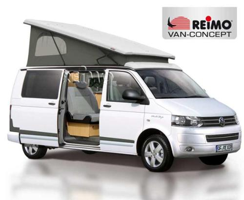 VW T6, VW T5 pop top roof superflat, LWB, rear pop up, white