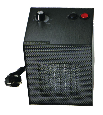 Elektro Heizlüfter mit Thermostat 230V 450/750/1500W 2/4/6A Ecomat Classic
