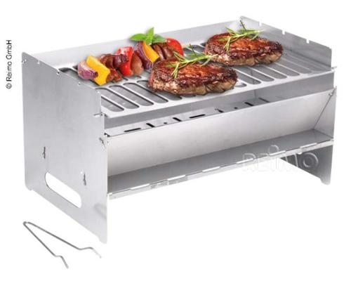 mobile pluggable barbecue 250x400x220mm, stainless steel