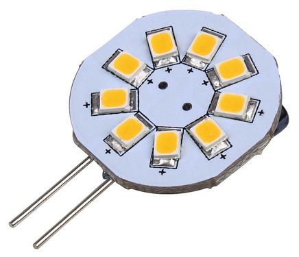 LED G4 Leuchtmittel, 1,5W, 120 Lumen, 9 warmweiße SMD
