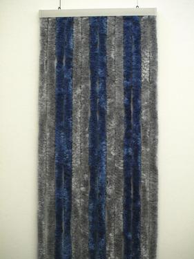Fleece curtain 56x205 grey/dark blue for motorhomes and caravans