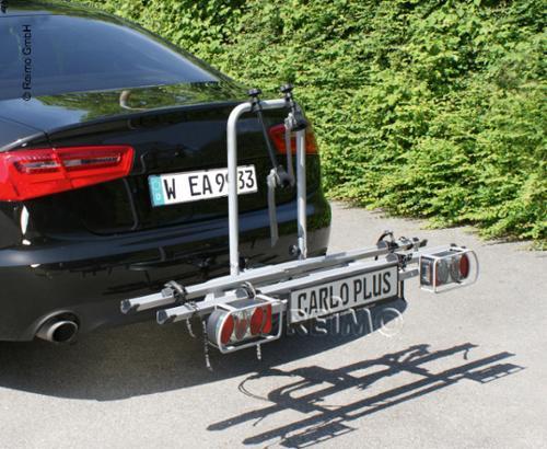 Klappbarer Fahrradträger f.Anhängekupplung für 2 Fahrräder