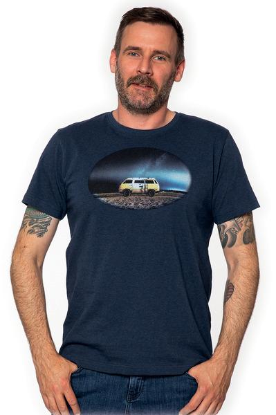 T-shirt men VW, blue-melange, 100%cotton