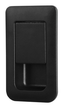 Türschloss 36x59mm schwarz/schwarz Türstärke 12-18mm