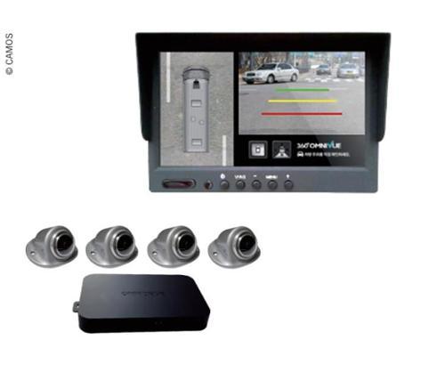 """OmniDrive 360° avec moniteur 7"""" et 4 caméras"""