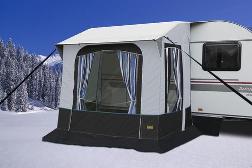 Vinter telt Cortina 2 til campingvogne, stålstænger