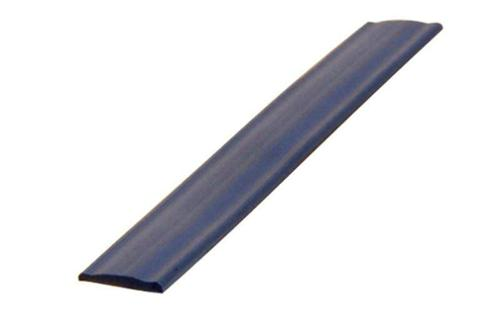 Profile-section cover for piping rail, black 12mm, 10m