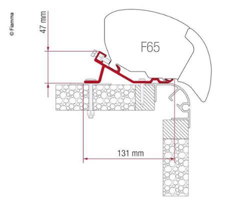 Fiamma F65 Adapterkit Bailey