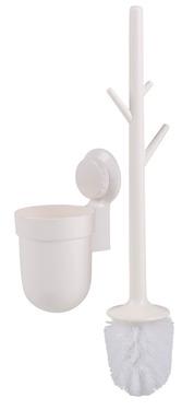 Szczotka toaletowa z przyssawką, biała