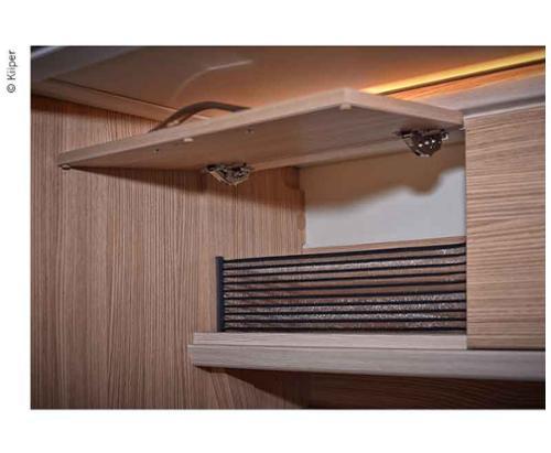 KIIPER-Mini Ablagenetz Set 3, für 200mm Einbaubreite, schwarz liniert