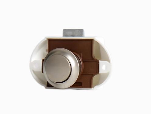 Karton Push Lock silber, einseitig, 50 Stück