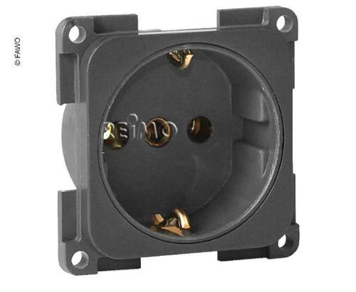 230V socket shockproof slate grey, loose