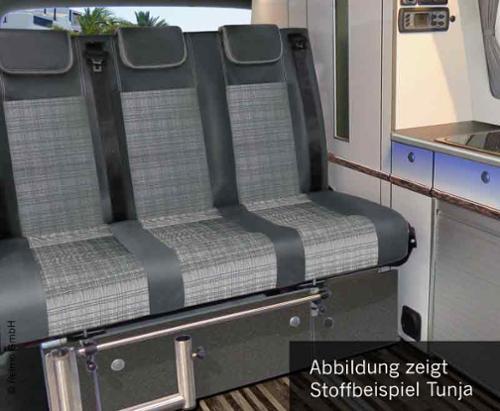 Sleeping bench Merc. Vito LR 2015 V3000 size 8 3-seater,