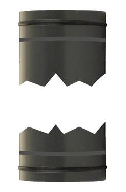 Rør 0,5m 40mm på begge sider med O-ringe