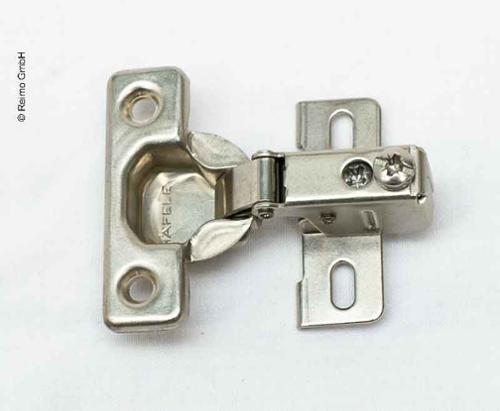 Kurzarmscharnier, für dünne Drehtüren ab 12 mm Türdicke