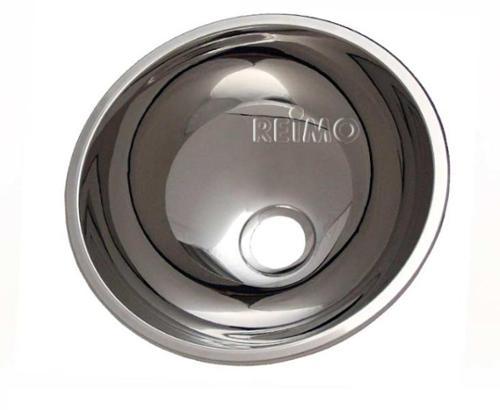 lavello in acciaio inox tondo 300mm, profondità 140mm